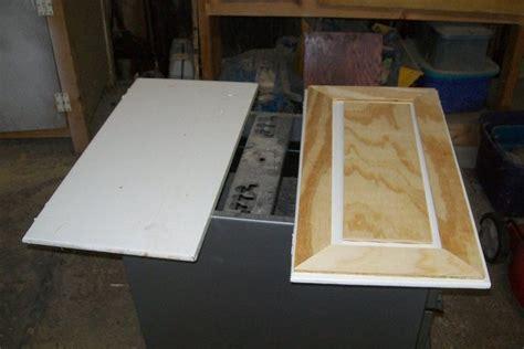 faux raised panel cabinet door redo  myfathersson
