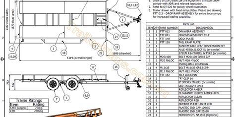 home built cer trailer plans flatbed tilt trailer trailer plans