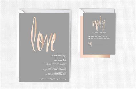 Format Hochzeitseinladung by Gold Wedding Invitation Blush Gray Modern