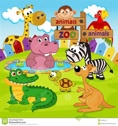imagenes de animales de zoologico animados animales del parque zool 243 gico ilustraci 243 n del vector