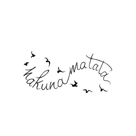 Lolitattoo Temporary All Of Me infinity hakuna matata temporary set of 2 by tattify all about me