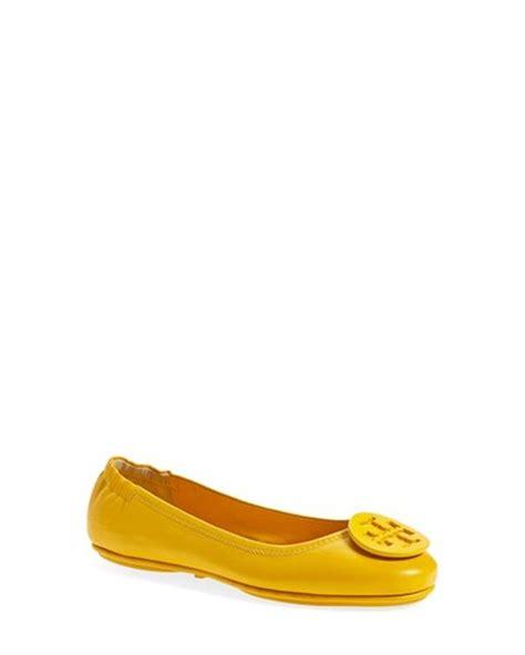 Burch Minnie Travel Flat Shoes 16 burch minnie travel ballet flats in yellow