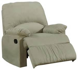 coaster microfiber upholstered glider recliner chair in