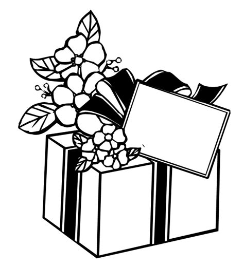 coloring page of gift box coloring pages of xmas gift boxes to print best coloring