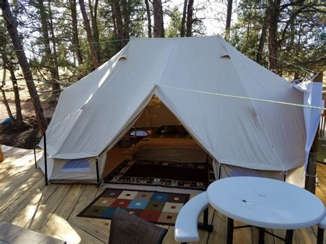 tent deck sibley tent on elev tree deck romantic hot springs