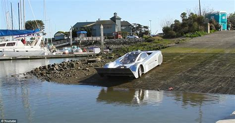 straight off the boat cast sea lion hibious sports car can hit 125mph on land and