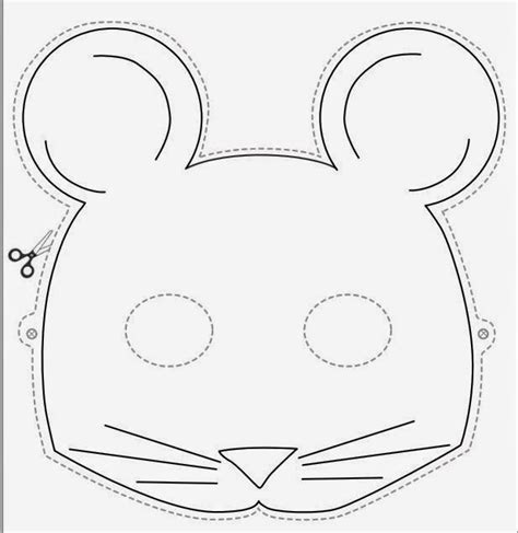 Mouse Mask Template Printable free coloring pages of rat mask