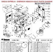 Saeco Exprelia Hd8854 8856 Parts Diagram