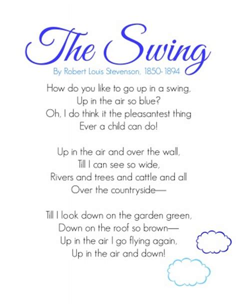 the swing poem by robert louis stevenson memory work made easy june his mercy is new