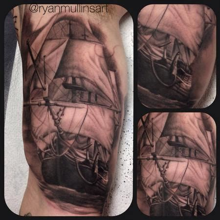 ship tattoo black and grey art junkies tattoo studio tattoos nautical black and