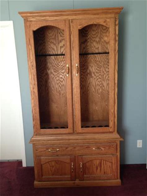 solid wood 10 gun cabinet nex tech classifieds