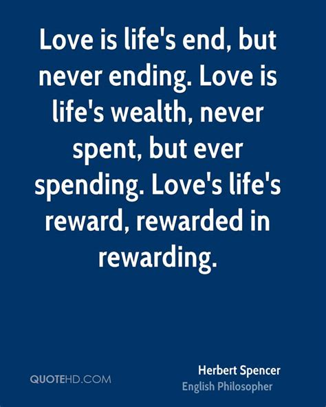 endless love ending quote herbert spencer love quotes quotehd