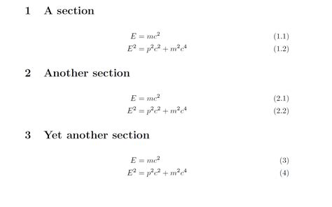 latex no section number sectioning numbering align environments tex latex