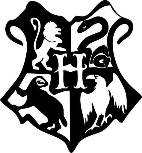 Hogwarts Logo Outline by Harry Potter Hogwarts Crest Vinyl Car Window And Laptop Decal Stic Decal Gremlins