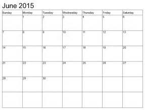 Calendar June 2015 Printable June 2015 Calendar
