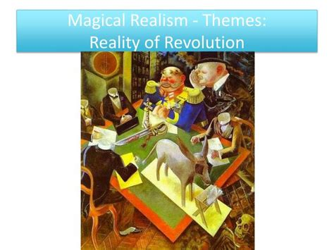 themes of realism literature ppt a very old man with enormous wings and magical
