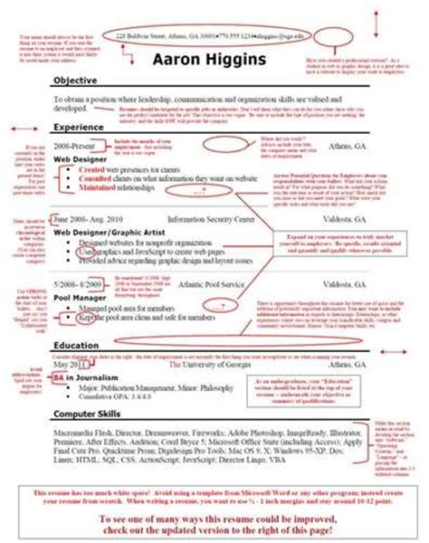 Bad Resume by Go From The Bad Resumes Page To The Page