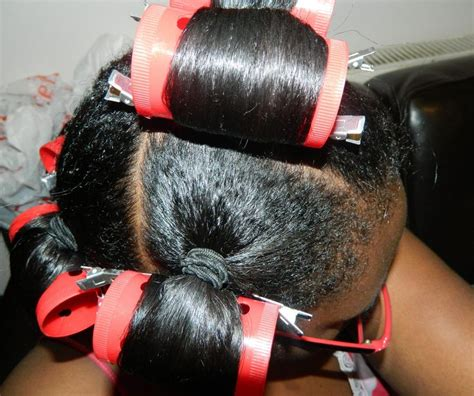 roller set relaxed hair 64 best images about hair roller set on pinterest flat
