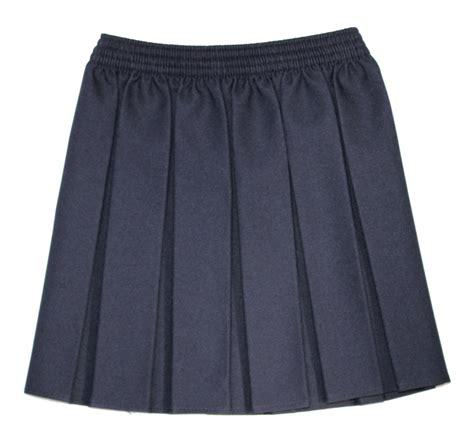 castle green box pleat skirt navy