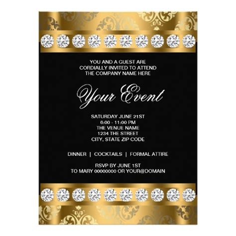 Best Photos Of Corporate Invitation Templates Business Dinner Invitation Template Corporate Black Tie Event Program Template
