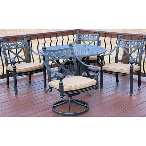 Overstock Patio Furniture Sets Madrid 5 Patio Furniture Set Overstock Shopping Big Discounts On Dining Sets