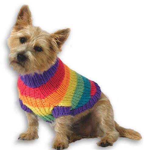 knitting pattern dog jersey rainbow dog sweater knitting pattern from caron yarn
