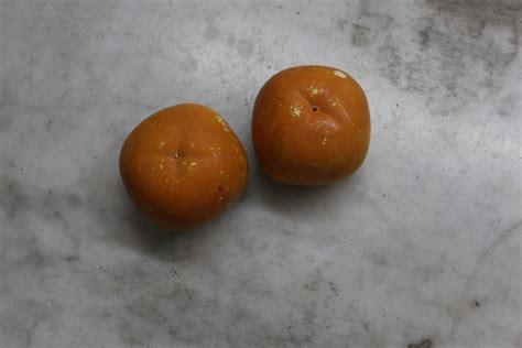 L Taruna Ori 1buah antikpisan buah keramik pajangan berbentuk kesemek made in japan