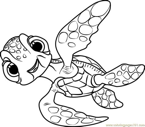 nemo squirt coloring pages squirt coloring page free finding dory coloring pages