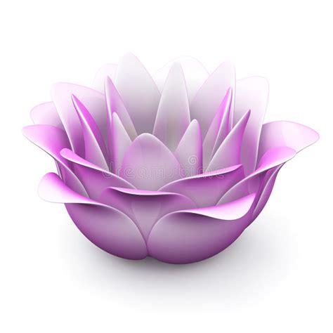 fiore di loto rosa fiore di loto rosa 3d illustrazione di stock immagine