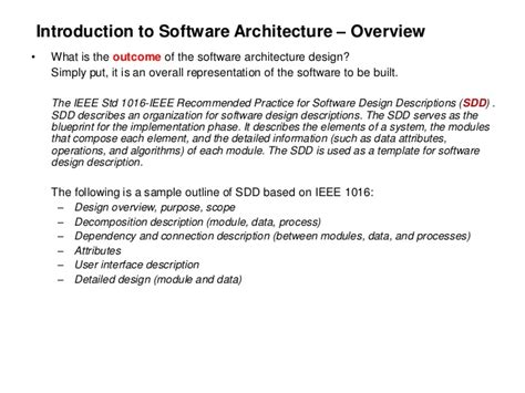 sdd template ieee software architecture design for begginers