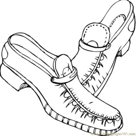Pages Shoes free coloring pages of drawing of shoes