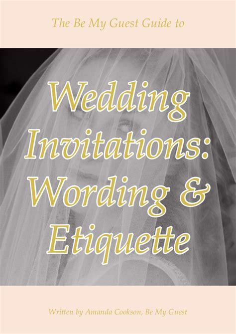 wedding invitation etiquette no guest wedding invitation wording and etiquette guide