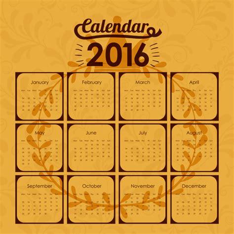 design wall calendar 2016 simple wall calendar 2016 design vectors set 17 vector