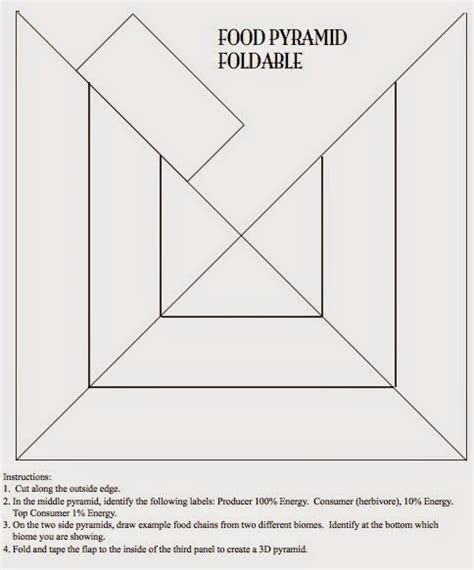foldable pyramid template teaching the kid food pyramids