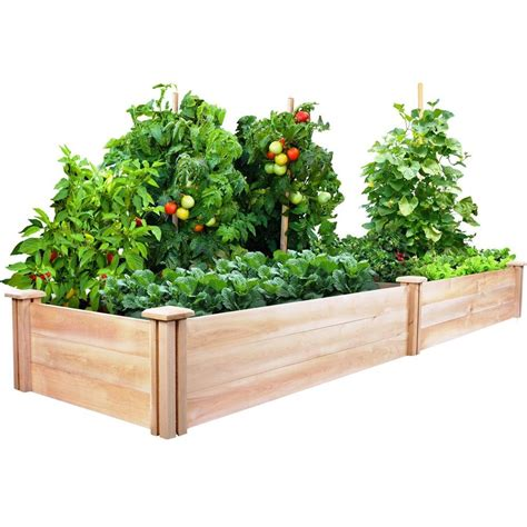 greenes fence raised beds greenes fence 2 ft x 8 ft x 10 5 in cedar raised garden