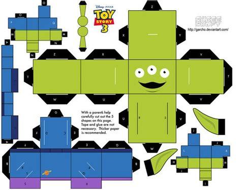Paper Craft Toys - cubeecraft templates papercraft story paper