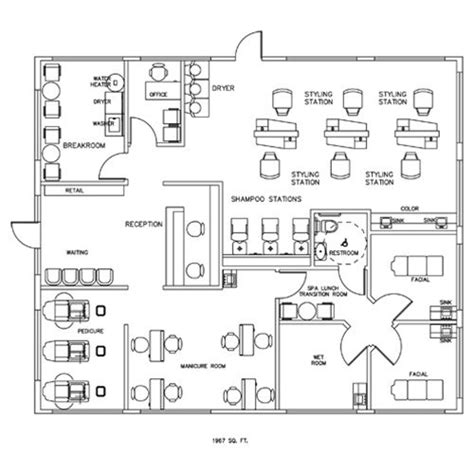 salon layout drawing 22 best salon design images on pinterest hair salons