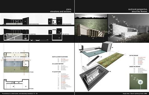 architecture portfolio architecture and layout on