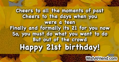 Quotes For 21st Birthday Boy 21st Birthday Sayings Page 1