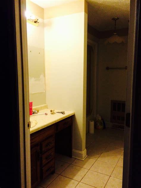 bathroom with no windows dark master bathroom with no window