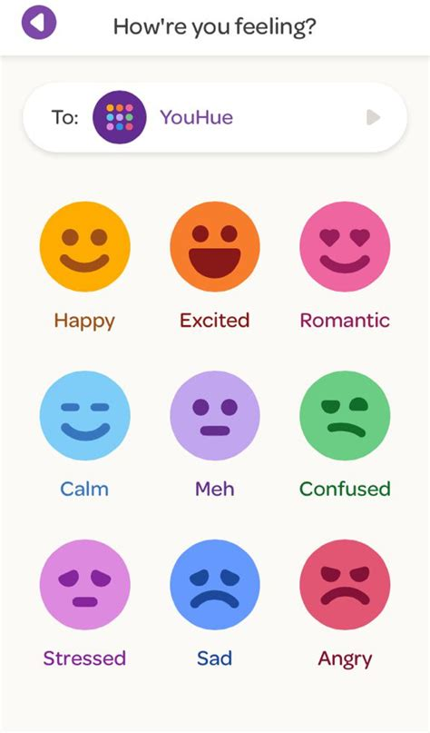 color for moods youhue the latest mood sharing app makes communication