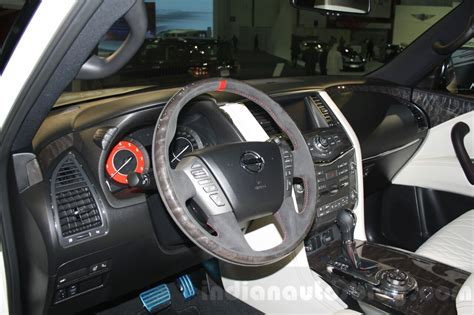 nissan patrol nismo red interior nissan patrol nismo 2015 dubai motor show live