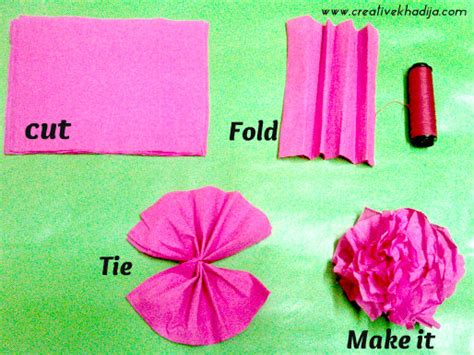 How To Make A Flower Using Crepe Paper - how to make colorful crepe paper flowers for decoration