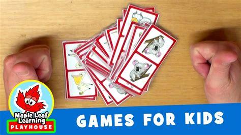 domino for kids children educational game printable animal dominoes game for kids maple leaf learning