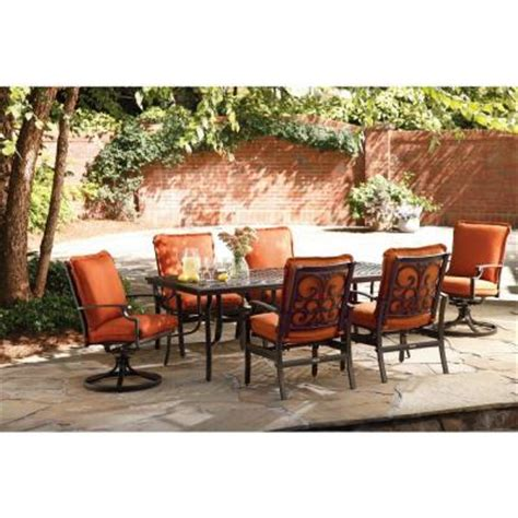 Patio Dining Sets Home Depot Thomasville Messina 7 Patio Dining Set With Paprika