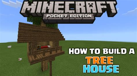 how to build a house in minecraft pe mcpe house tutorials how to build a tree house minecraft pe pocket edition youtube