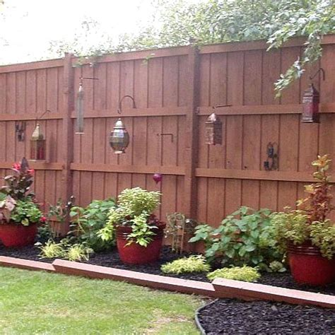 Fence Backyard Ideas Brandonemrich Com Wood Fence Backyard