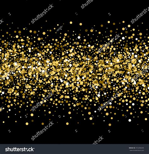 glitter and gold testo gold sparkles on black background gold stock vector