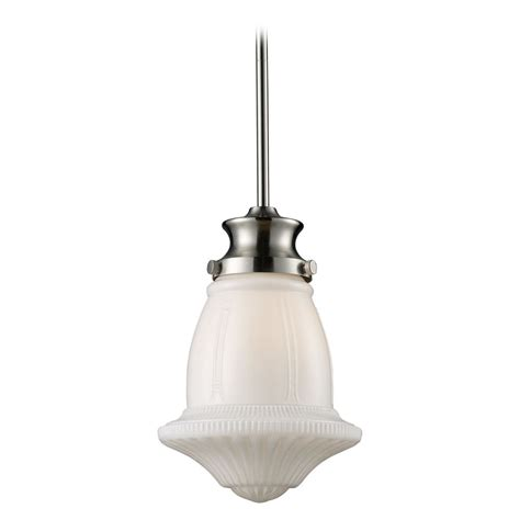 schoolhouse mini pendant light schoolhouse mini pendant light with white glass 69029 1