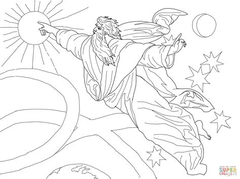 Creation Day 4 Coloring Sheets Coloring Pages Creation Color Pages